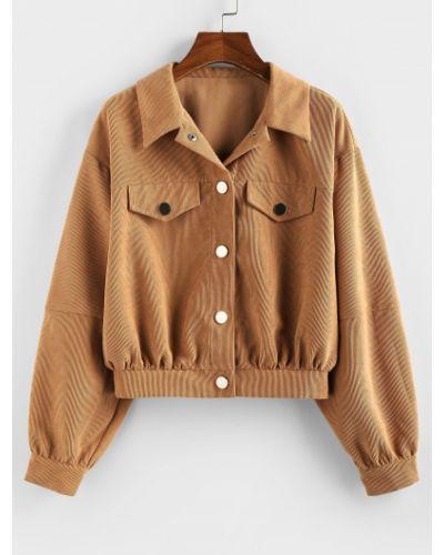 Куртка вельветовая - коричневая Zaful
