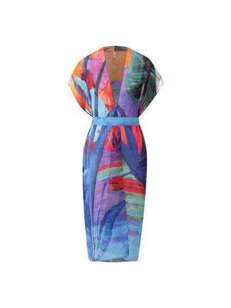 Летнее платье с поясом индийский Gottex