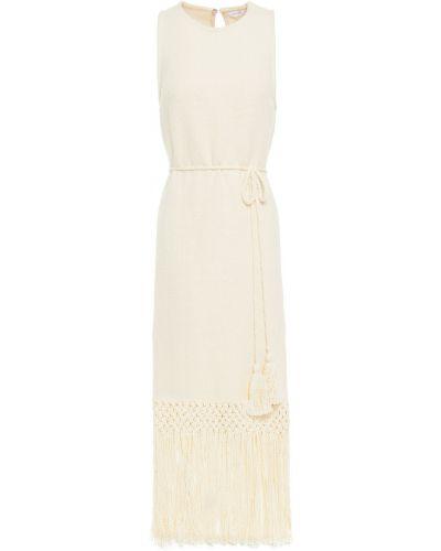 Sukienka midi z frędzlami bawełniana Rhode