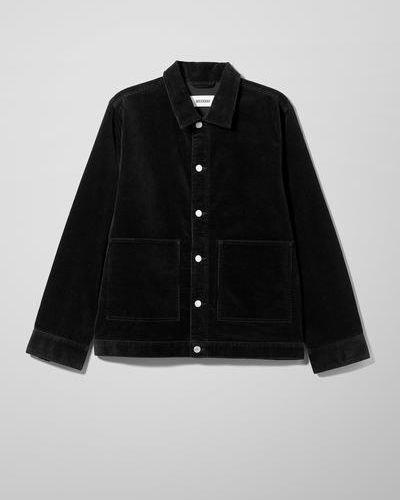 Черная куртка с воротником Weekday