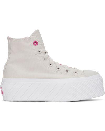 Белые кроссовки на шнуровке Converse