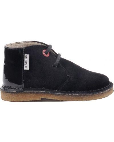 Ботинки лаковые черные Moschino