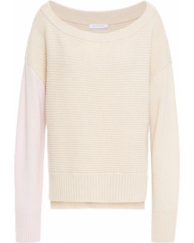 Бежевый шерстяной свитер Duffy