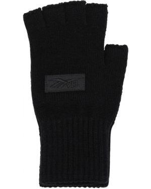Prążkowane czarne rękawiczki skorzane Reebok X Victoria Beckham
