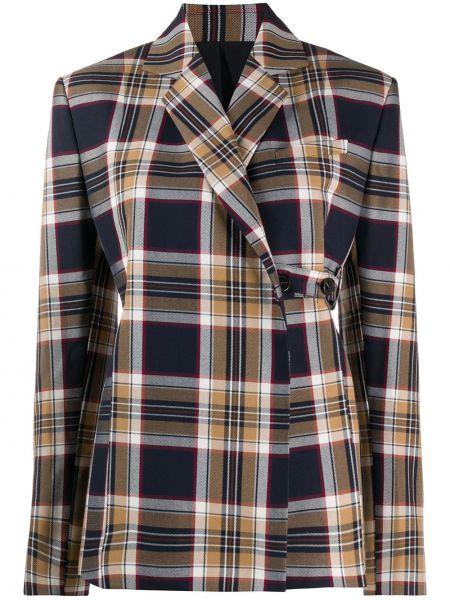 Синий пиджак с карманами из вискозы Rokh