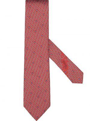 Красная шелковая резинка для волос с заплатками Ermenegildo Zegna