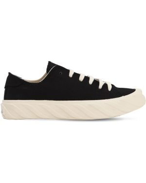 Czarne sneakersy sznurowane koronkowe Age - Across To Genuine Era