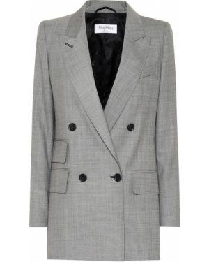 Пиджак серый шерстяной Max Mara