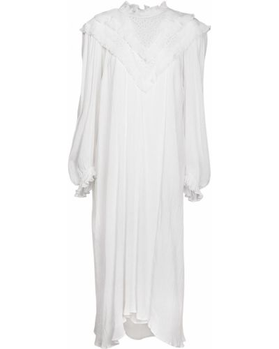 Хлопковое платье миди - белое Isabel Marant Étoile