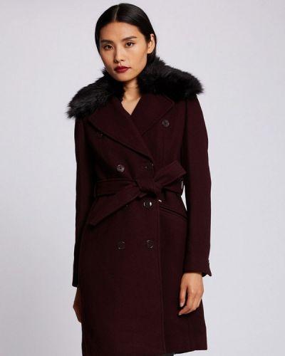 Красное пальто двубортное Morgan