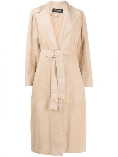Кожаное пальто Simonetta Ravizza