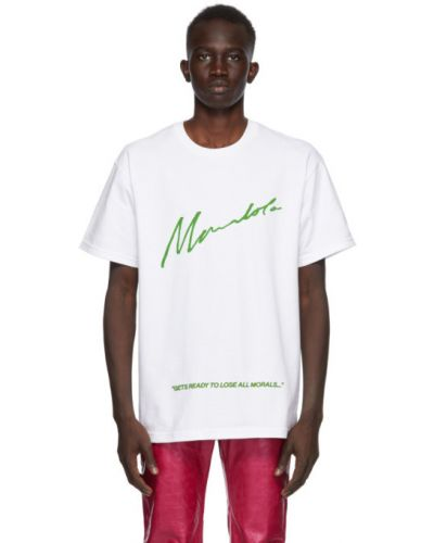 Zielony t-shirt bawełniany krótki rękaw Mowalola