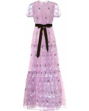 Вечернее платье с вышивкой из органзы Erdem