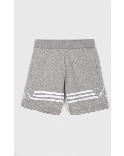 Шорты серые с декоративной отделкой Adidas Originals