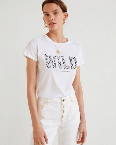 Белая футболка Mango