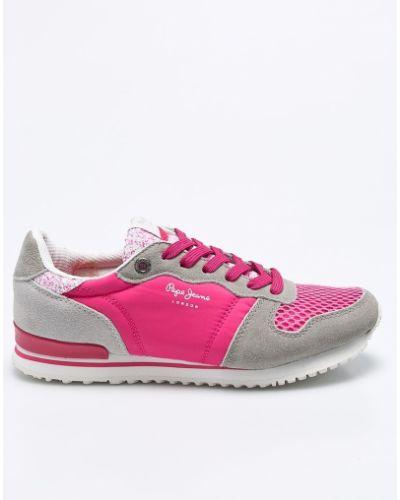 Розовые кроссовки Pepe Jeans