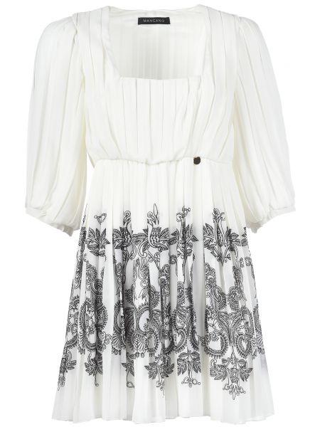 Платье из полиэстера - белое Mangano