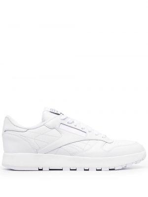 Кожаные белые кроссовки на шнуровке Maison Margiela X Reebok