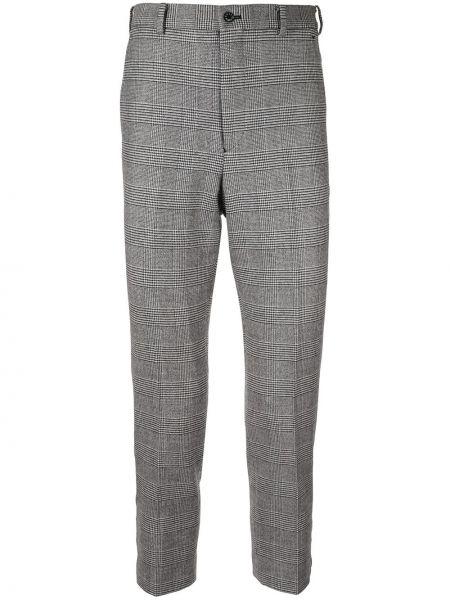 Прямые брюки пэчворк на пуговицах с карманами новогодние Loveless