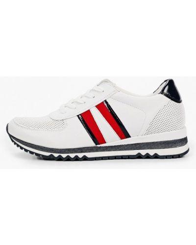 Кожаные белые кроссовки Marco Tozzi