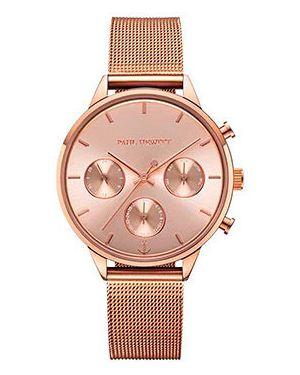 Кварцевые часы розовый с круглым циферблатом Paul Hewitt
