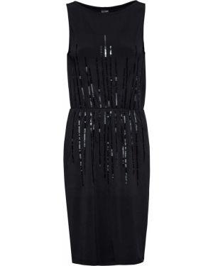 Платье с поясом с пайетками без рукавов Bonprix