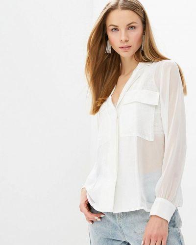 Блузка с длинным рукавом белая весенний Lost Ink.