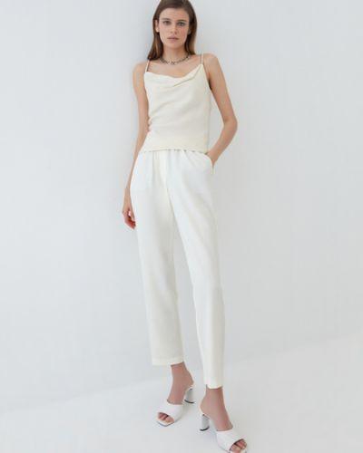 Белые брюки с завязками с подкладкой Zarina