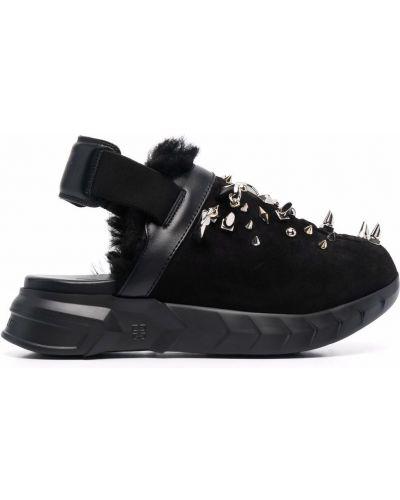 Sandały skórzane - czarne Givenchy