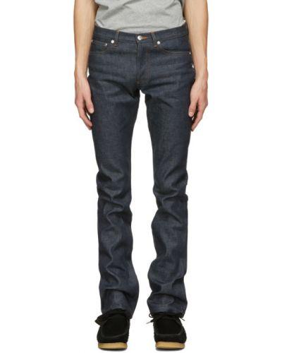 Прямые синие джинсы стрейч A.p.c.