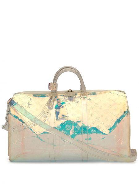 Дорожная сумка на молнии винтажная со шлейфом Louis Vuitton