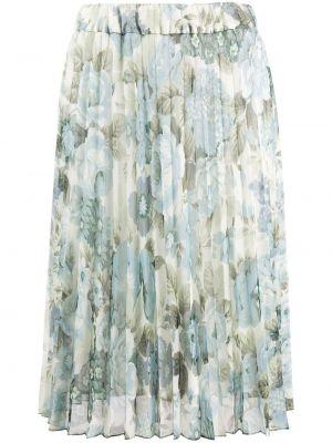 Плиссированная юбка миди с цветочным принтом P.a.r.o.s.h.