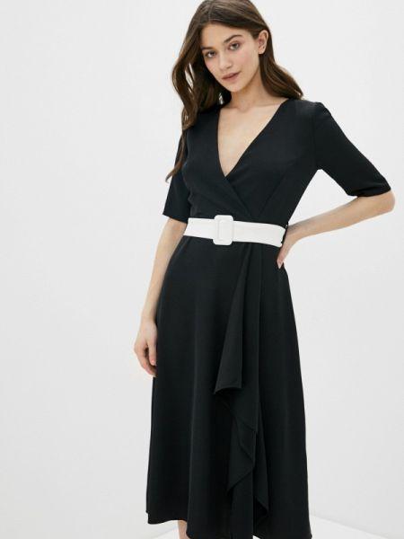Черное платье с запахом Rinascimento