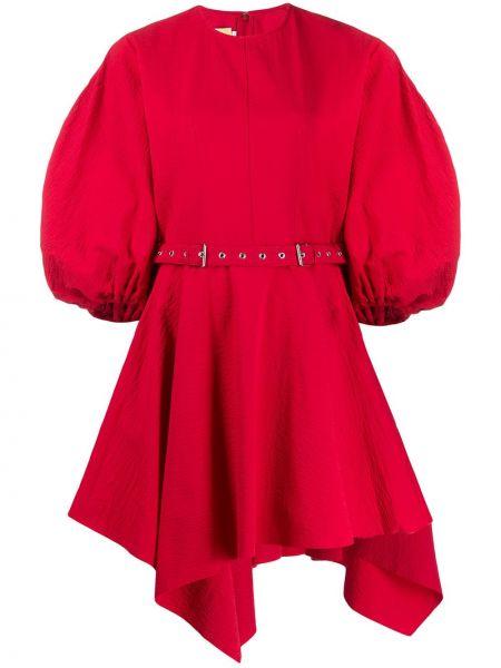 Платье с поясом на молнии красный Marques'almeida