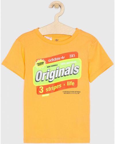 Koszula z wzorem pomarańczowy Adidas Originals