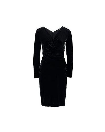 Черное коктейльное платье Emporio Armani