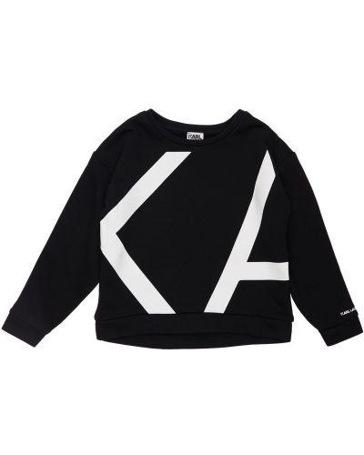 Хлопковый свитшот - черный Karl Lagerfeld