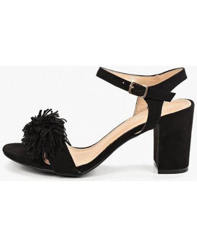 Босоножки черные на каблуке Stephan