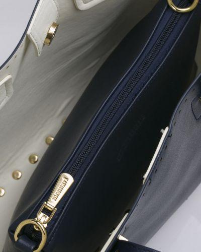 Кожаная сумка через плечо - синяя Monnari