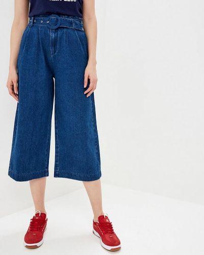 Широкие джинсы расклешенные синие Ostin