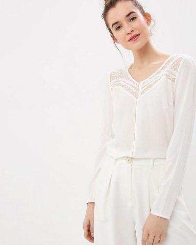Блузка с длинным рукавом белая весенний Naf Naf