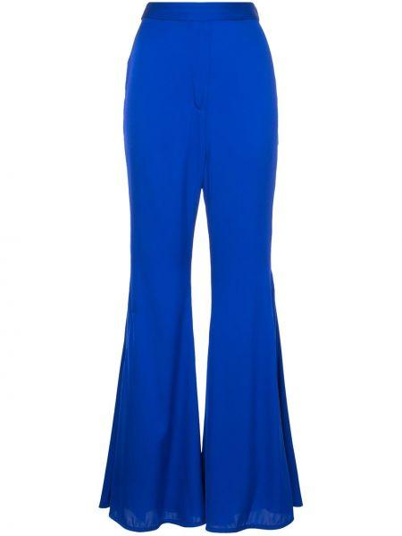 Klasyczne niebieskie spodnie klasyczne z jedwabiu Ellery