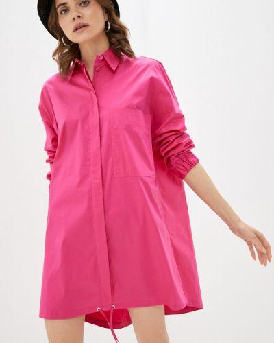 Розовое платье-рубашка United Colors Of Benetton