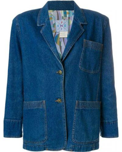 Пиджак джинсовый с заплатками Fendi Vintage