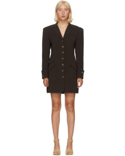 Платье макси с длинными рукавами с воротником с манжетами с карманами Situationist