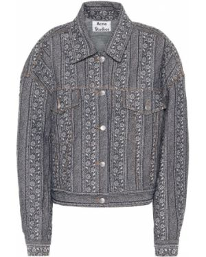 Джинсовая куртка с цветочным принтом куртка-жакет Acne Studios