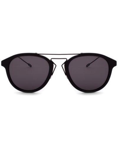 Солнцезащитные очки черные титановые Dior