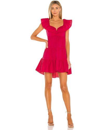 Хлопковое розовое платье мини на молнии Saylor