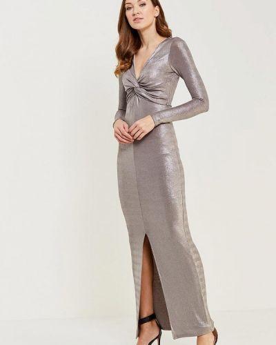 Платье осеннее серебряного цвета River Island