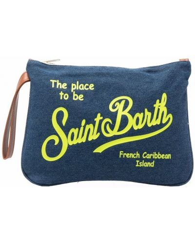 Niebieska kopertówka z printem bawełniana Mc2 Saint Barth Kids